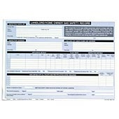 Regin 663010-NUM Landlords Gas Safety Record Pad