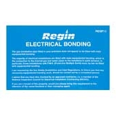 Regin REGP11 Electrical Bonding Sticker pk10