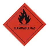 Regin REGP01 Flammable Gas Warning Diamond