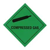 Regin REGP02 Compressed Gas Warning Diamond